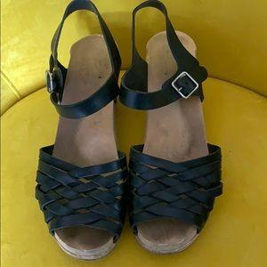 Swedish Hasbeens Braided Leather Sandal